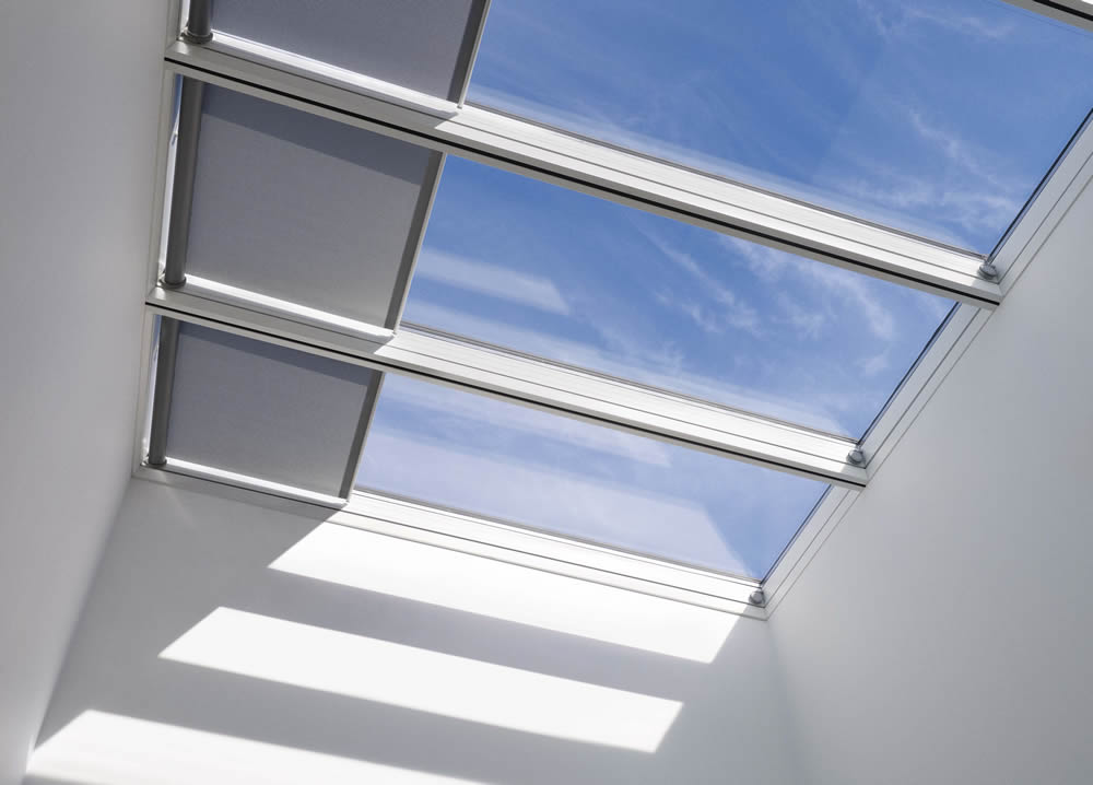 San antonio tx skylight window treatments shades for Electric skylight shades motorized blinds