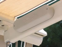 Wireless wind sensor for San Antonio awning