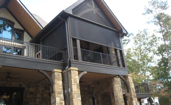 Motorized retractable screens for San Antonio porches and patios